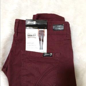 Seven7 High Rise Skinny Pants NWT